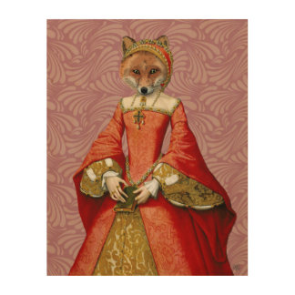 Fox Queen Wood Wall Art