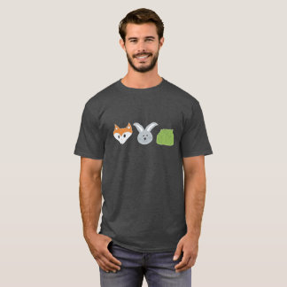 Fox Rabbit Cabbage Heads T-Shirt