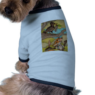 Fox & Raven from Aesop's Fables Doggie Shirt