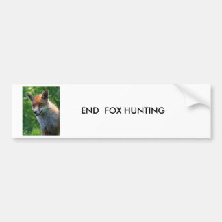 fox red beautiful photo custom bumper sticker