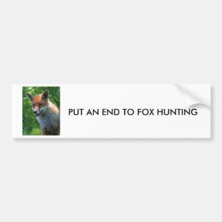 fox red beautiful photo portrait bumper sticker