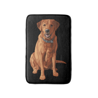 Fox Red Yellow Labrador Retriever Dog Bath Mat