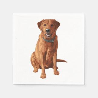 Fox Red Yellow Labrador Retriever Dog Disposable Napkins