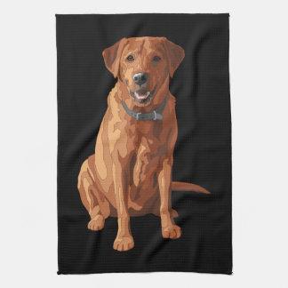Fox Red Yellow Labrador Retriever Dog Tea Towel