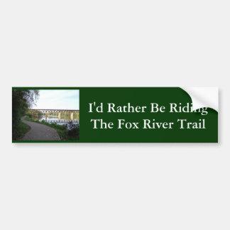 Fox River Trail Bumper Sticker