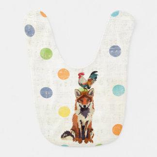 Fox & Rooster Polkadot Baby Bib