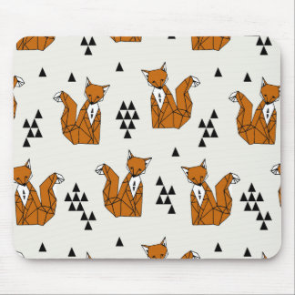 Fox / Rust Cream Brown Neutral / Andrea Lauren Mouse Pad