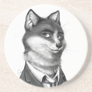 Fox Sandstone Drink Coaster (3/4)