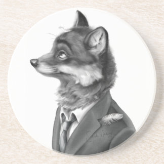 Fox Sandstone Drink Coaster (Profile)