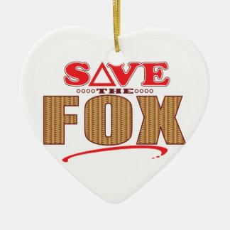Fox Save Christmas Ornament