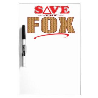 Fox Save Dry Erase Board