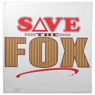 Fox Save Napkin