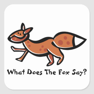 Fox Say (Customizable) Sticker