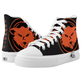 fox shoes printed shoes
