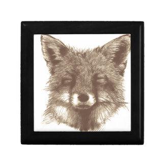 Fox sketch gift box