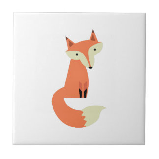 Fox Small Square Tile