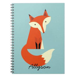 Fox Spiral Note Book