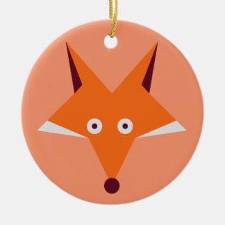 Fox Star Christmas Ornament