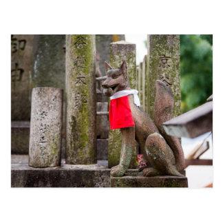 Fox Statue of Fushimi Inari Shrine Postcard