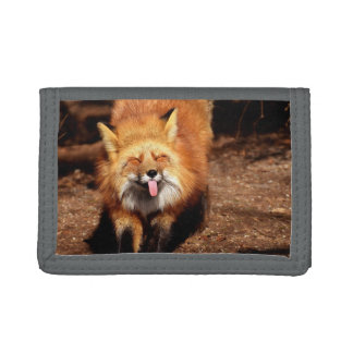 Fox Sticking It's Tongue Out Trifold Wallet
