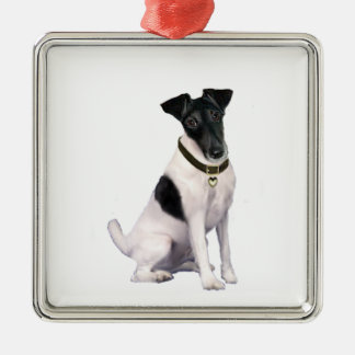 Fox Terrier (A) - Smooth - black-white Christmas Ornament