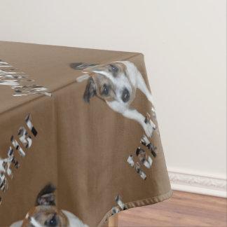 Fox Terrier And Fox Terrier Logo, Brown Tablecloth