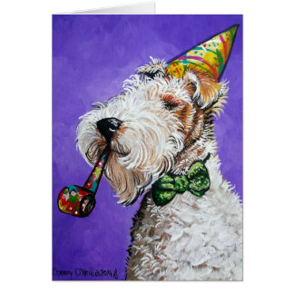 Fox Terrier Birthday Card