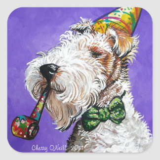 Fox Terrier Birthday Square Sticker
