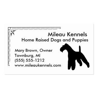 Fox Terrier Double-Sided Standard Business Cards (Pack Of 100)