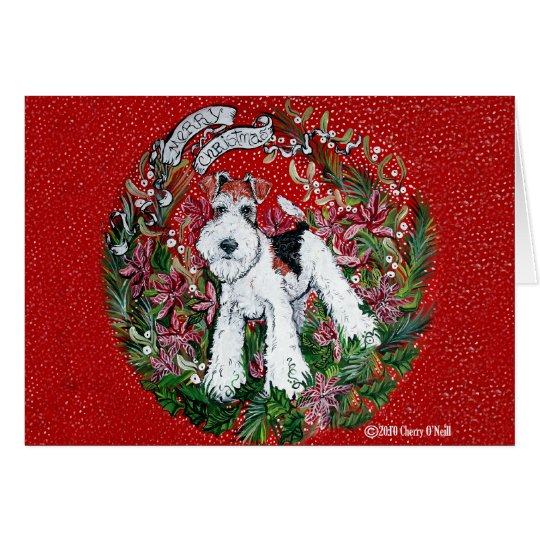 Fox Terrier Christmas Card