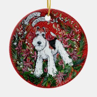 Fox Terrier Christmas Ornament