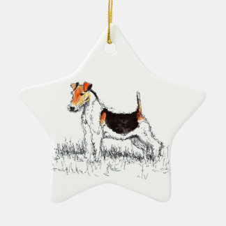 Fox Terrier Christmas Ornament