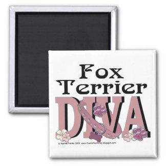Fox Terrier Diva Magnet
