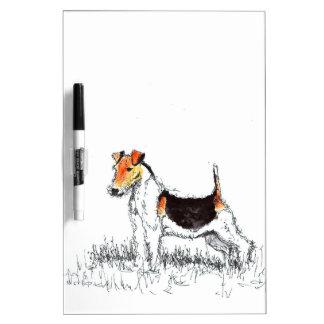 Fox Terrier Dry Erase Board