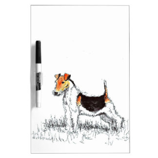 Fox Terrier Dry Erase White Board