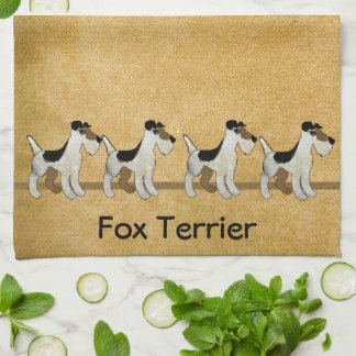 Fox Terrier Muddy Paws Hand Towels