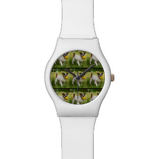 Fox Terrier Pattern, Ladies White May Watch. Watch