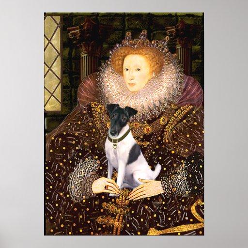 Fox Terrier - Queen Elizabeth Poster