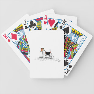 Fox Terrier standing proud Bicycle Playing Cards