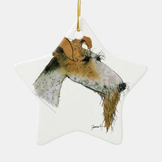 Fox Terrier, tony fernandes Ceramic Star Decoration