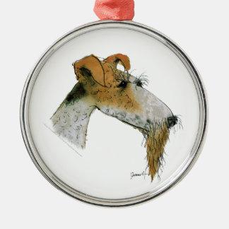 Fox Terrier, tony fernandes Christmas Ornament