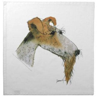 Fox Terrier, tony fernandes Napkin