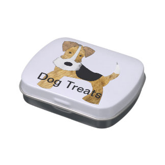 Fox Terrier Treat Tin Candy Tin