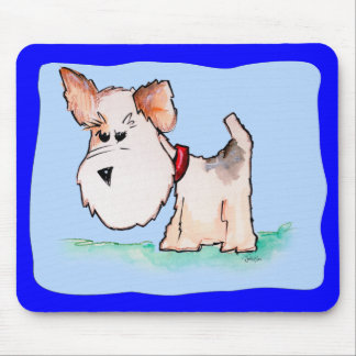 Fox Terrier Watercolor Mouse Pad