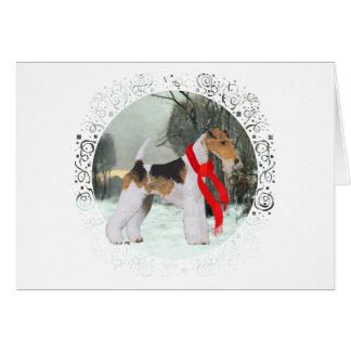 Fox Terrier Winter Greeting Card