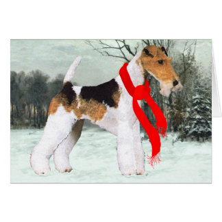 Fox Terrier Winter Greeting Card