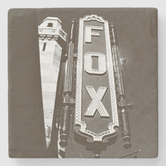Fox Theatre, Atlanta Coasters, B/W Stone Beverage Coaster