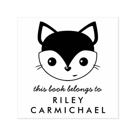 Fox This Book Belongs To Custom Name Self-inking