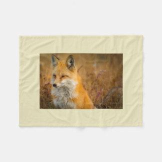fox throw blanket, foxy decor, fox cub fleece blanket