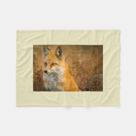 fox throw blanket, foxy decor, fox cub fleece